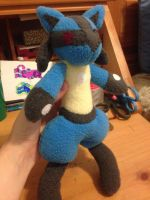 Plush: Mini Lucario by VixessRin