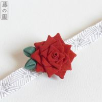 Lancaster Rose Obidome Brooch by Arleen