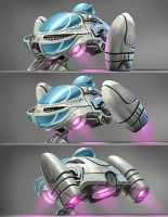 Tuny Spaceship by CHERDAK