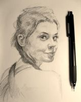 sketch of the day. Study. Anna by gmar1k