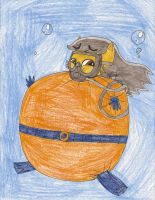 Request - Me in scuba diver inflation suit by Magic-Kristina-KW
