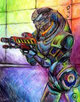 Disco Garrus by efleck