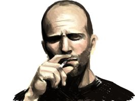 Jason Statham sketch by NonArk