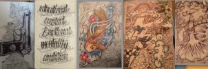 Moleskine Drawings by 12KathyLees12