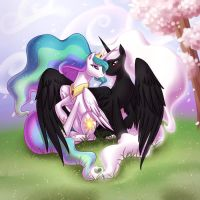 Zodiac and Celestia in the Spring Time by Anime-Adam