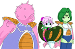 Dodoria, Frieza, and Zarbon by Stevesan