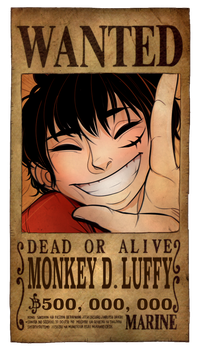 Luffy Wanted Poster by PlanarShift