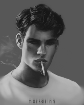 Portrait value study #2 by merkerinn