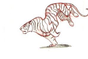 Hand Drawn Tiger Run by Tigerty