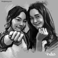 speed sketch_Taeyeon and Yoona by KoweRallen