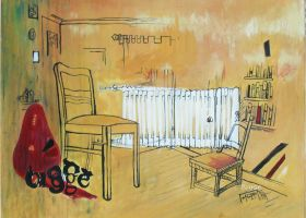 chair oil paint by ahmetbroge