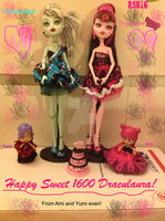 Ami and Yumi are at Draculaura's Sweet 1600 by DarkRoseDiamond123