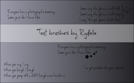 Funny text brushes by Rydelle