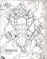 Dragoon manga cover concept by theherozion