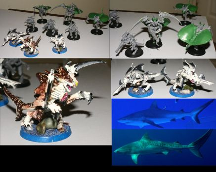 Tyranid Warriors - sharks by EscanInquisitor