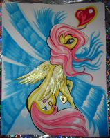 Copic Markers Fluttershy Glittery Shimmer Swirl by alaer
