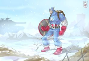 Captain America : a walk in the arctic by artnerdx