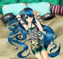 Headphone Girl - Wakana by sweetiiang3l