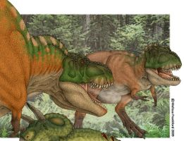 Tyrannosaurus Duel by mmfrankford