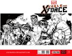 Fake Cable and X-Force cover line by lroyburch