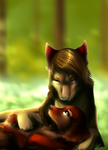 Hunger Games Fursonified Fanart: Dying Rue Scene by Capukat