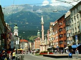 Innsbruck and its mountains by VeryBadGirl
