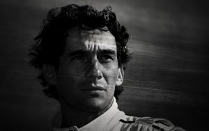 Ayrton Senna Wallpaper BW by JohnnySlowhand