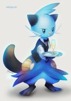 Commission: Dewott Waiter by eldrige