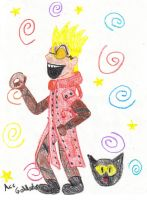 Vash doing a thing by ace-goldstar