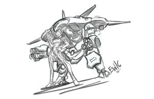 D.Va and Mekka - DRS request sketch by EryckWebbGraphics
