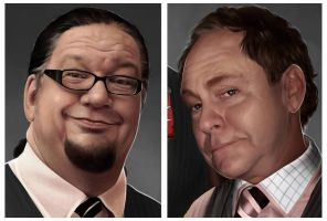 PENN and TELLER Closeups by Sheridan-J