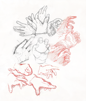 Hands sketches by cheeny