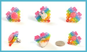 Sweet Deco Rings - Bunny and Candy by MelodyMaid