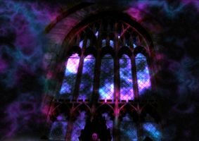 Gothic Window 02 by Blank--Canvas