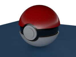 3DS Max - Pokeball by KingS1ngh
