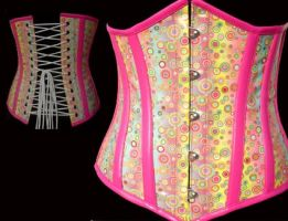 Strawberry Candy Corset by EspinaDorsal