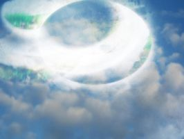 Ring of clouds UFO by MushroomBrain