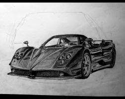 Pagani zonda ( in progress) by 09Pumba09