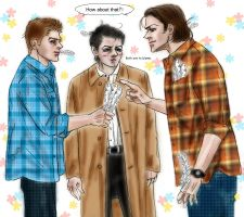 Supernatural  fanfic Sam vs Dean :  Love battle by noji1203