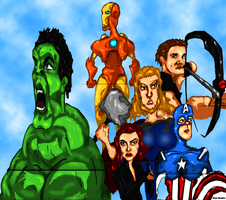 The Avengers by Bicabo