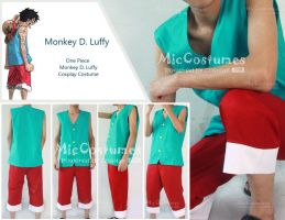 Luffy Cosplay Costume by cosplayblog