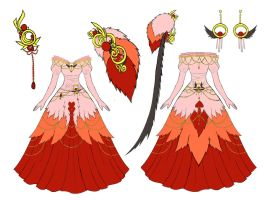 Flamingo Dress Design by Eranthe