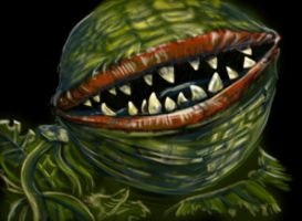Audrey II from Little Shop of Horrors by chrismoet