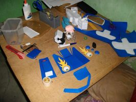 Megas XLR Project Extras:Arm Process 2 by MarcGo26