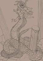 Medusa 2010 - pencils by phrenan
