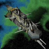 Artillery frigate, 3 of 6 by Nekio15
