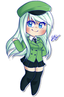 Chibi Hana [Commish] by Pyonkotcchi