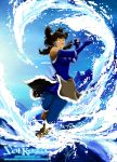 Korra: Waterbending in The Sea by SolKorra