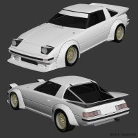 '84 Mazda FB RX7 WIP2 by The-IC