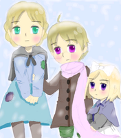 Young Kievan Siblings by Maskedgirl24